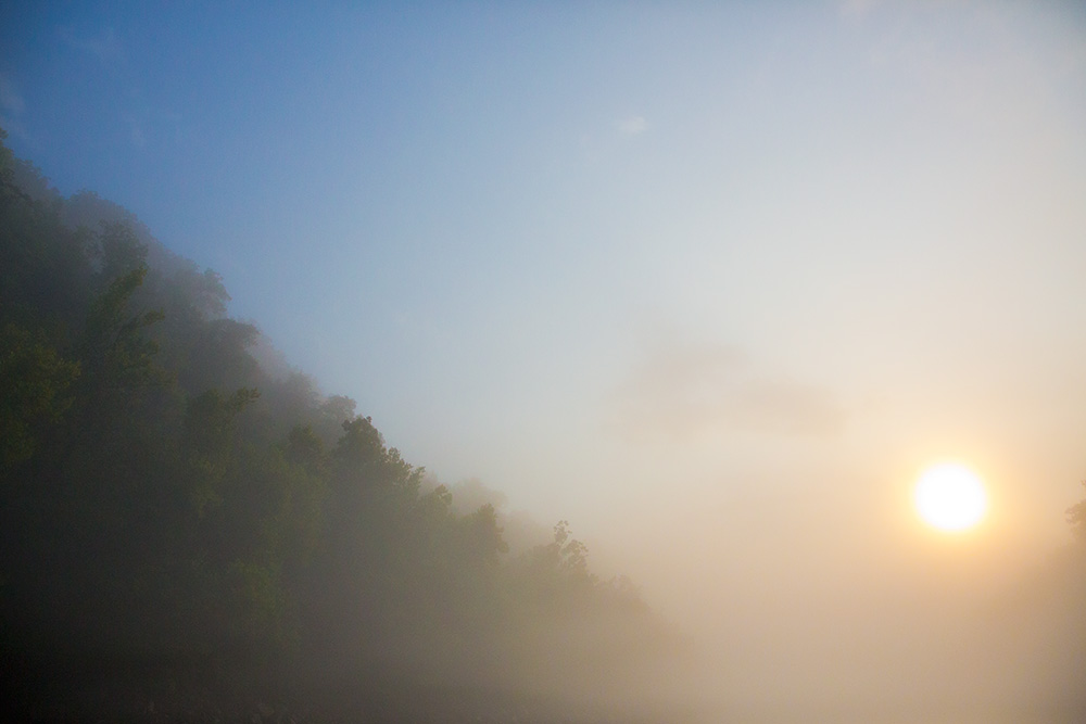 morning fog cumberland river
