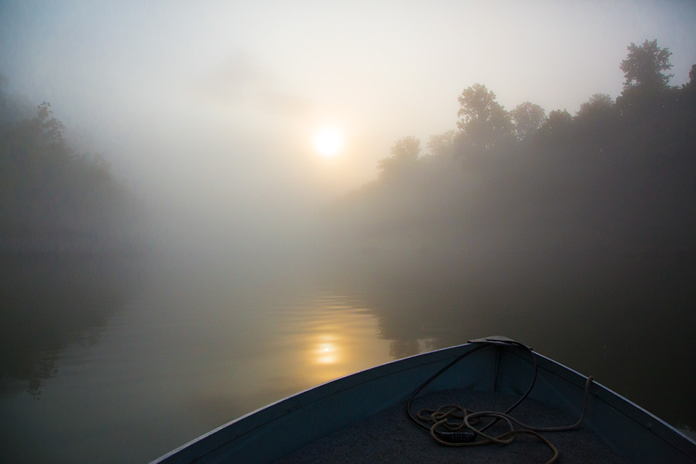 cumberland river boat fog