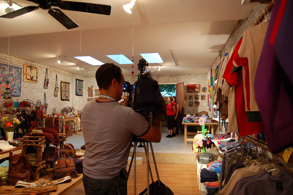 NY1 Filming UpBring for a feature