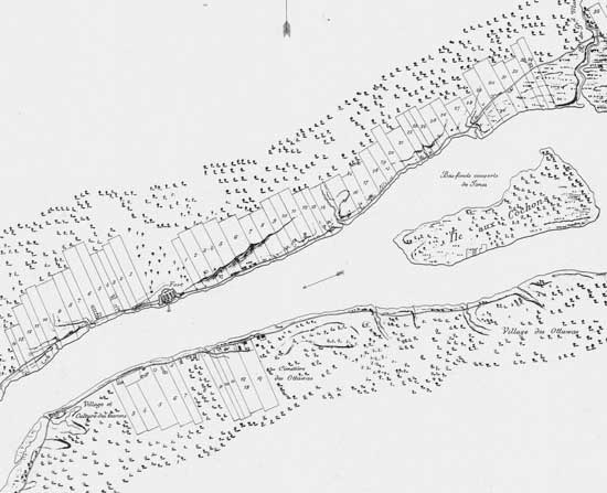 "Early Detroit, French ""ribbon farms"""