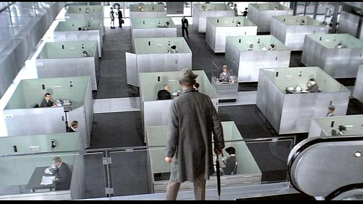 "Image from ""Playtime"" by Jacques Tati"