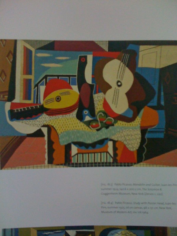 Am I the only one who sees the skull face in Picasso's 1924 Mandolin and Guitar? Genius.