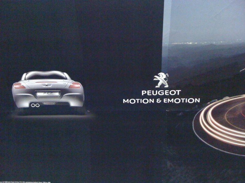 Peugeot. A lot to appreciate here: sharp redrawing of the iconic lion; simple, directly relevant, and understandable brandline, presented with equal importance to the name-a refreshing take on positioning hierarchies. And, to top it off, the visual typographic trick is a masterstroke…. - Euston Station, London Underground