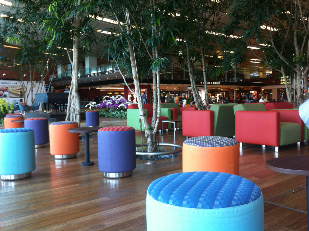 User-centric public facilities design, Changi Airport. Refreshing - who needs a Gold Class lounge…