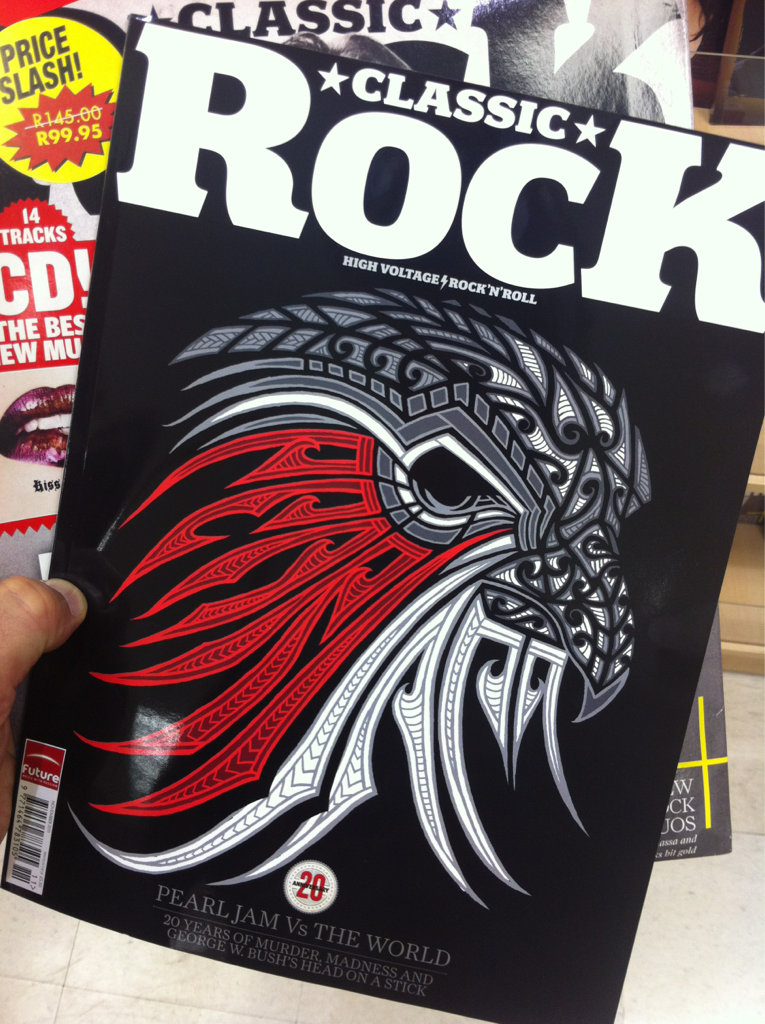 Classic Rock mag brings some high voltage thunder to December's cover. Artful!