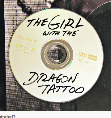 redpeak: Sony releases Girl with the Dragon Tattoo on DVD to look like a pirated copy. http://bit.ly/GHkPmi
