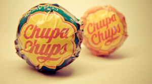 redpeak :     Did you know? Salvador Dali designed the Chupa Chups logo in 1958. Dali also insisted the placement of the logo be on top of the lollipop rather than the side so that it could always be viewed intact.  http://bit.ly/zZG1OE