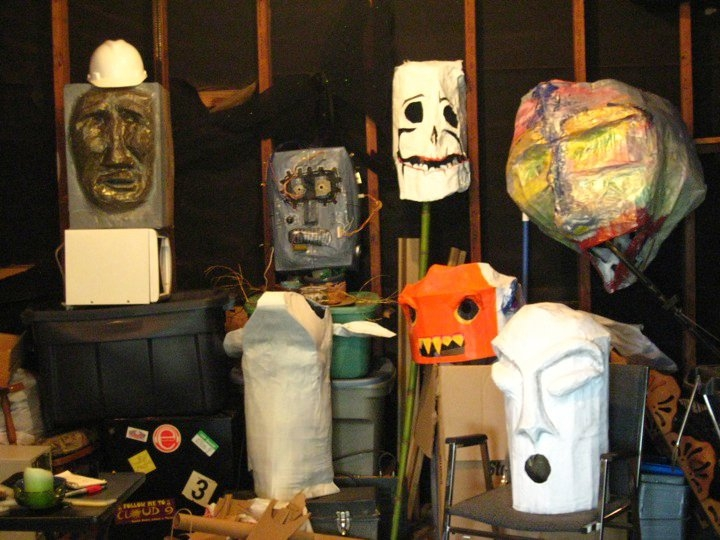 Group Puppet Head Art Project