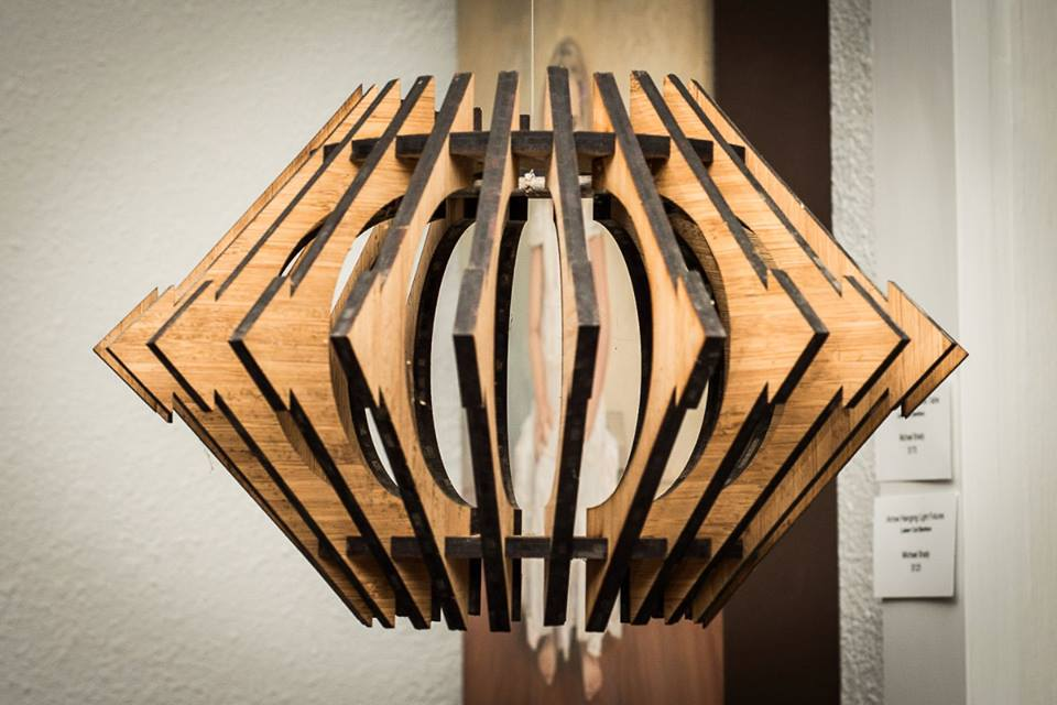 Bamboo Hanging Light Fixture
