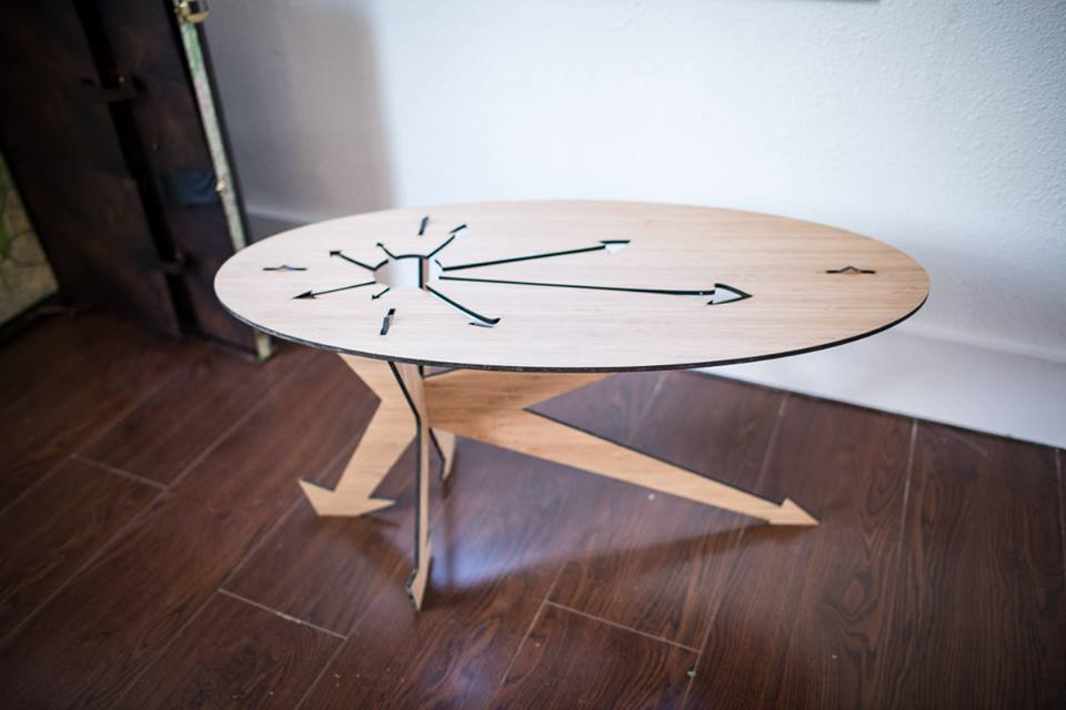 bamboo arrow table