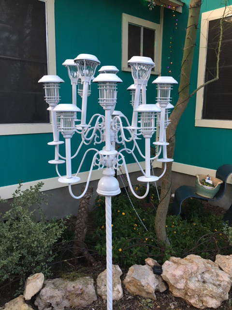 recycled solar candelabra