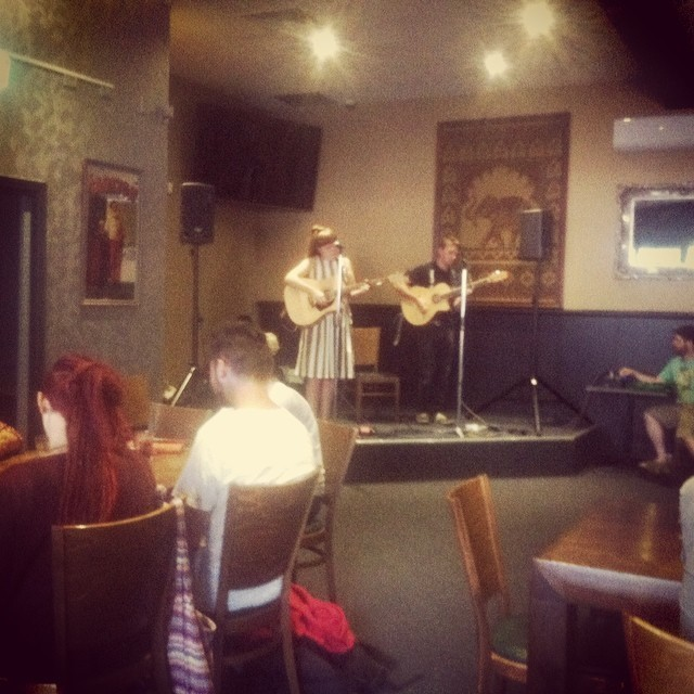 Maddy Leman and Derek Harrison performing in this weeks Acoustic Sunday lineup. #acoustic #livemusic #sundaysession