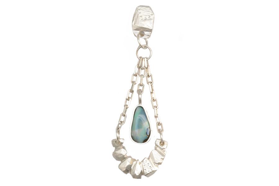 Sterling silver, fine silver, boulder opal