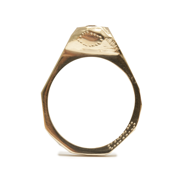 Here is one that just sold to a customer this week at Redox. The diamond mountain - 18ct gold and champagne diamond.