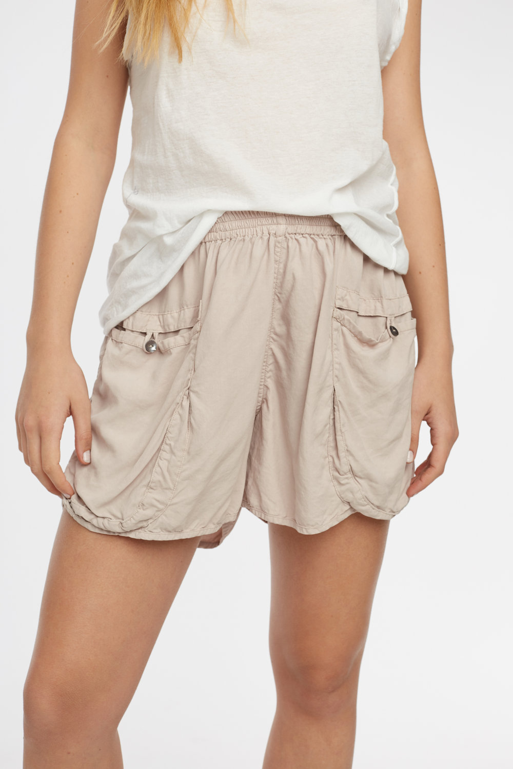 POCKET SHORT TAUPE