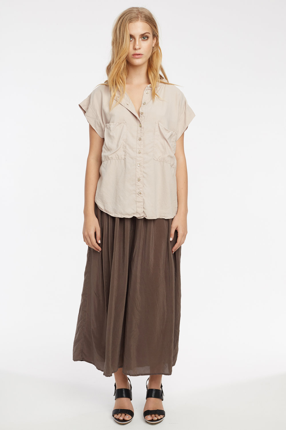 DAMI SHIRT TAUPE. GRUNDY CULOTTE WOODEN