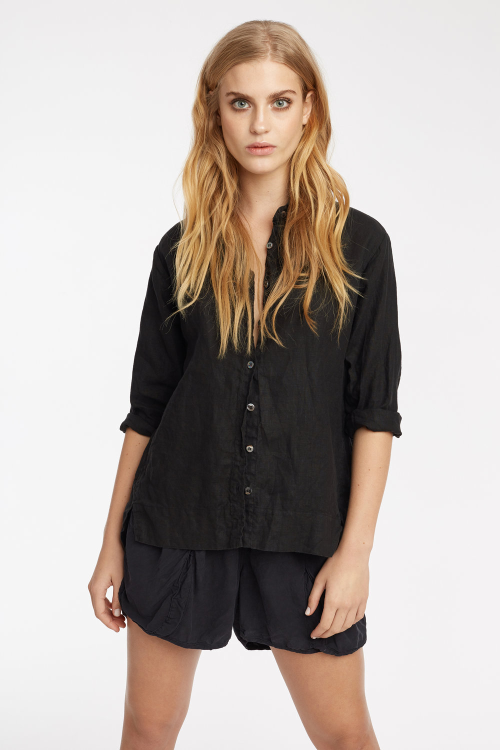 LIN SHIRT & POCKET SHORT NOIR