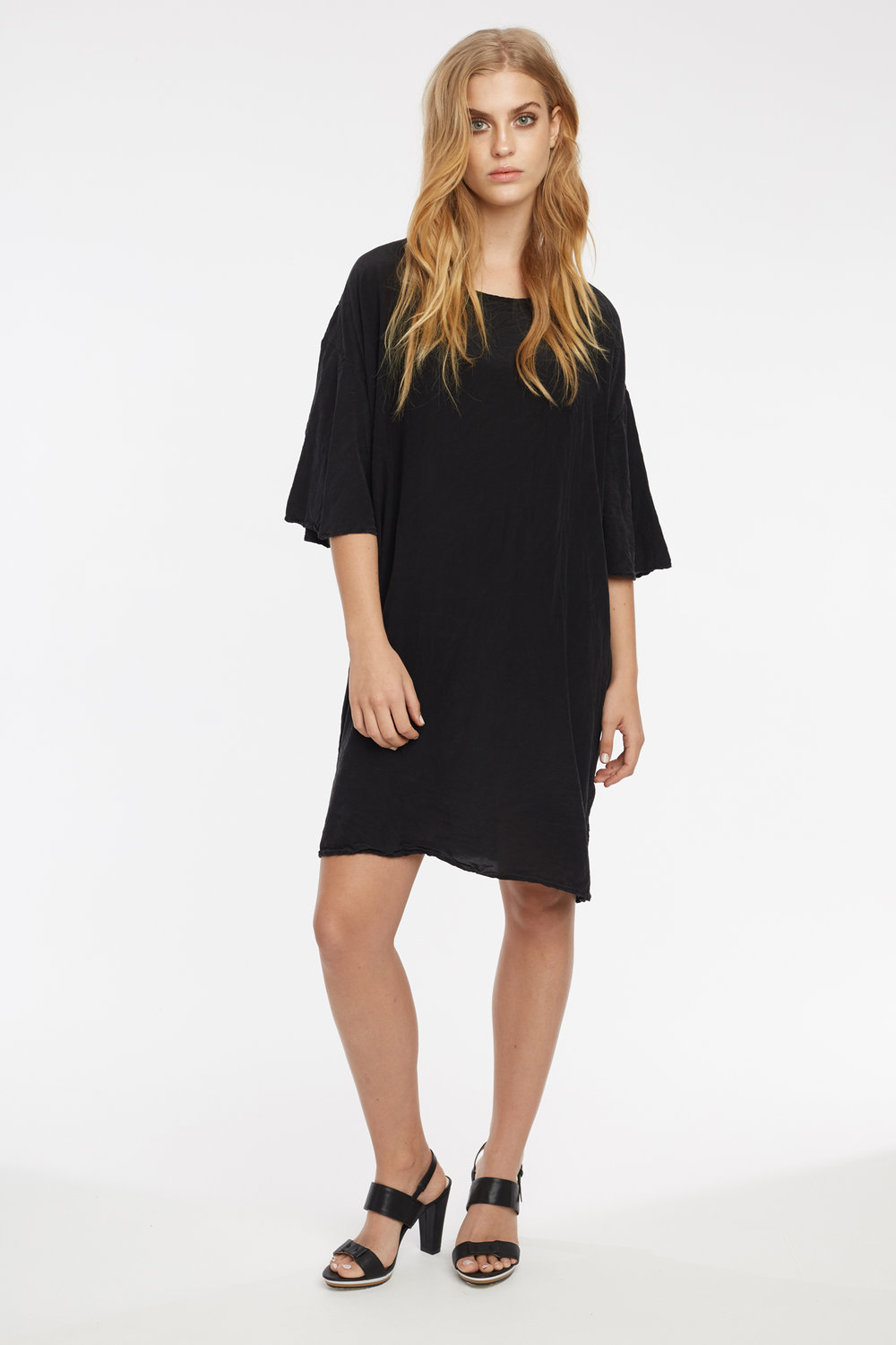 BUTTERFLY TEE DRESS NOIR