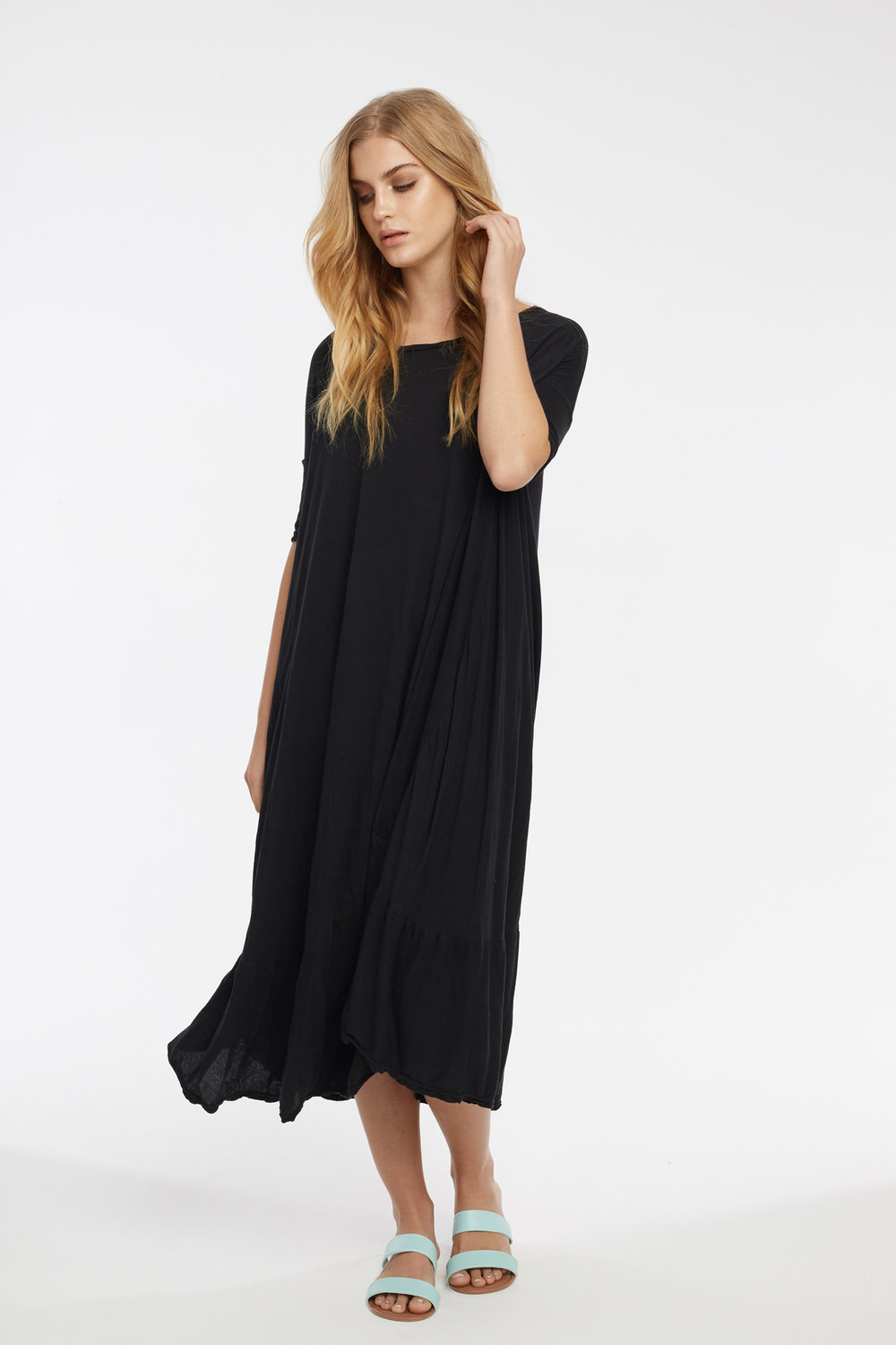 POP MIDI DRESS NOIR