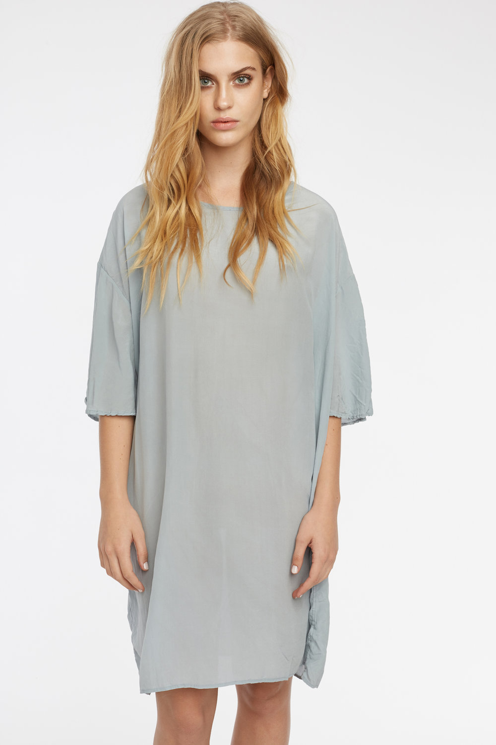 BUTTERFLY TEE DRESS DOVE GREY