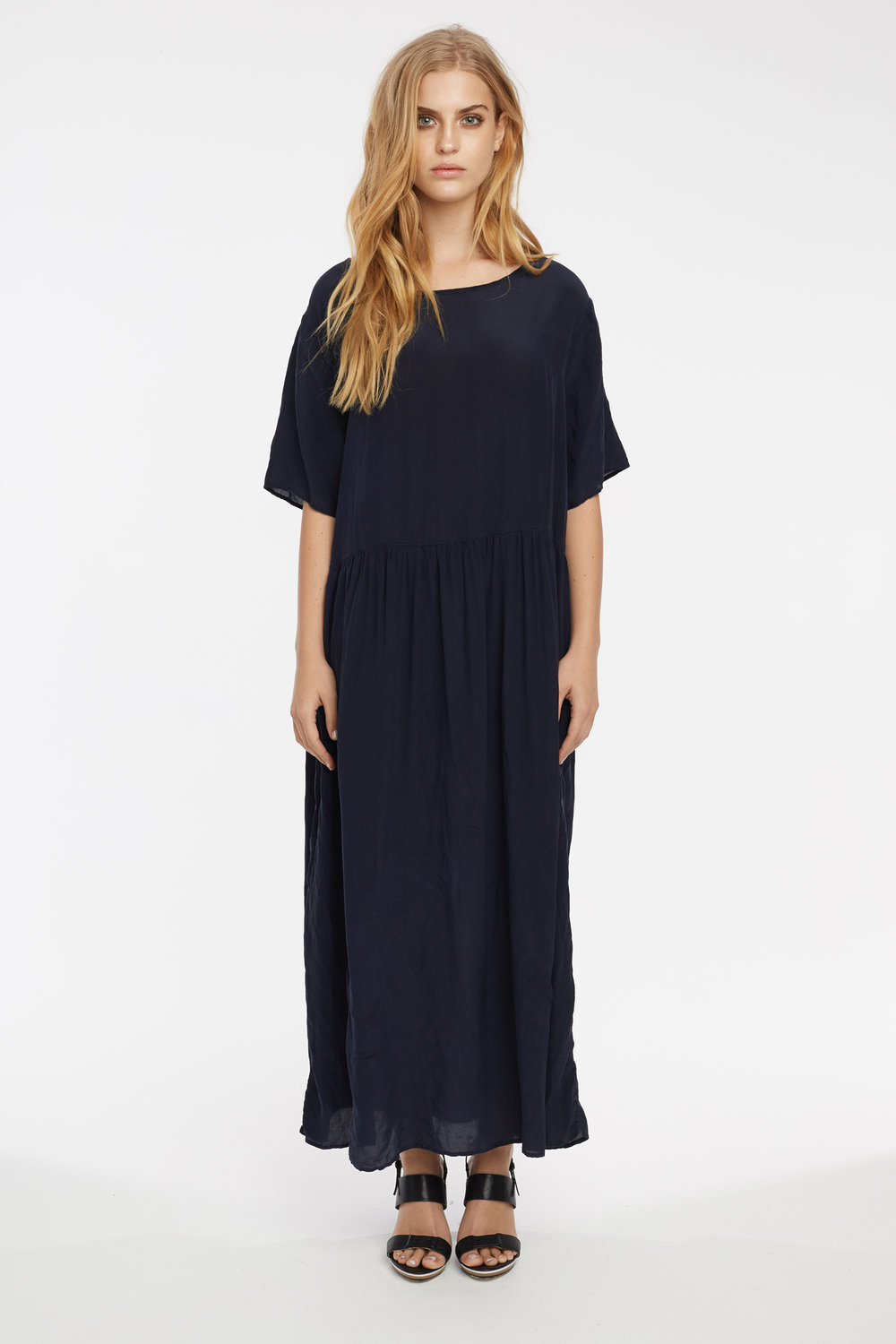 GRUNDY DRESS DARK NAVY