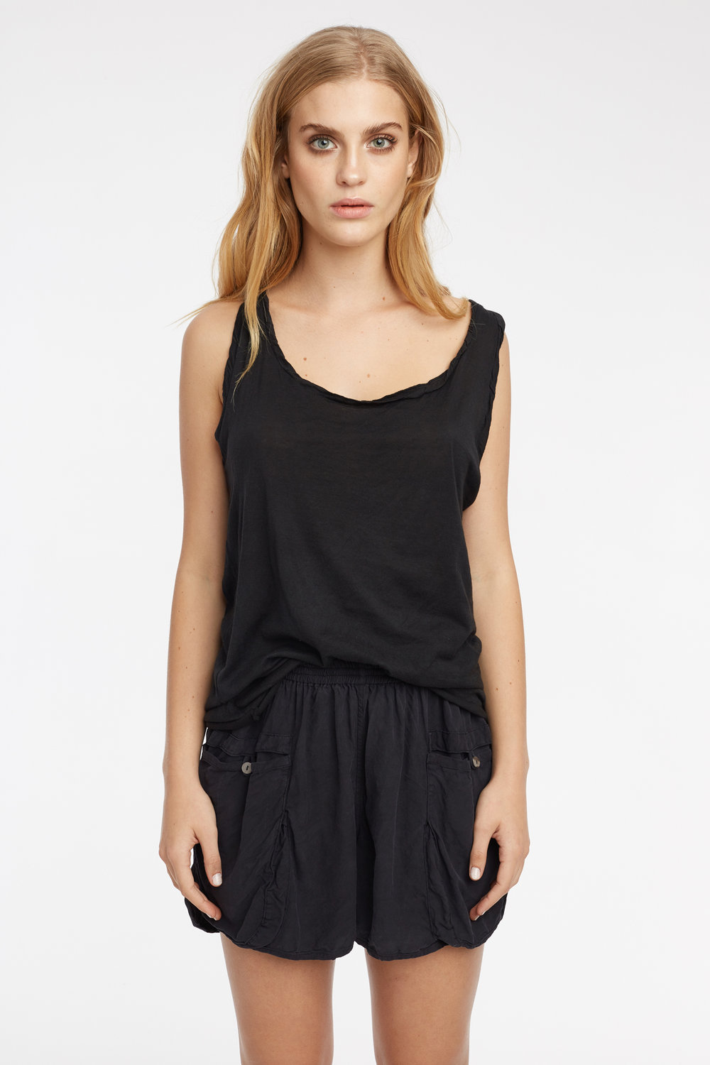 RACER TANK & POCKET SHORT NOIR