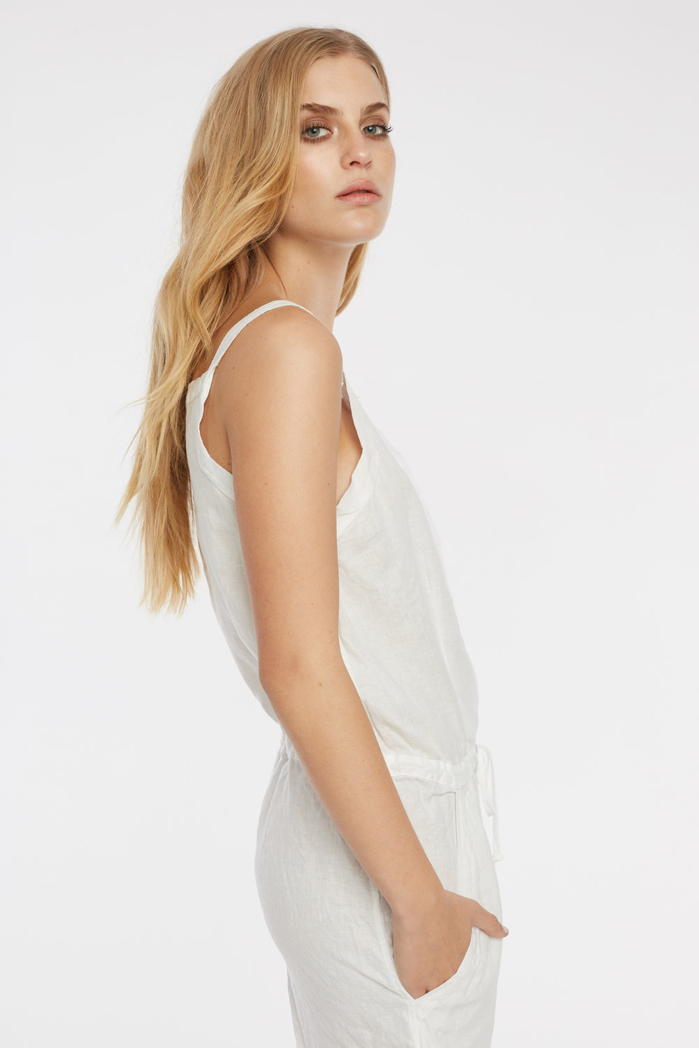 LIN PLAYSUIT BLANC