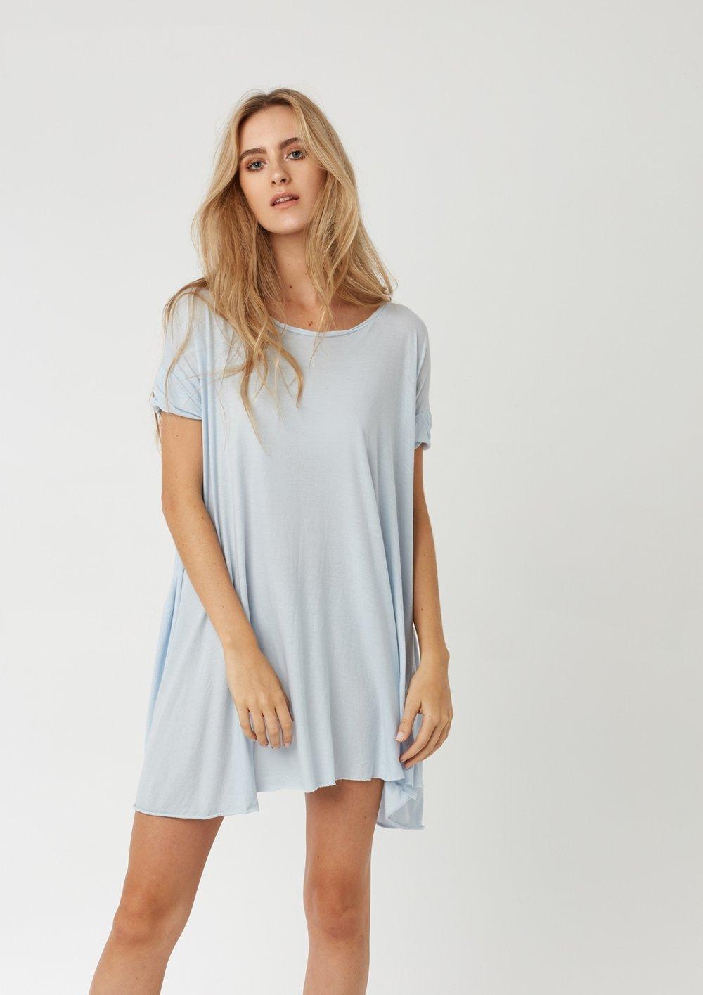 POP T-SHIRT DRESS SEA SPRAY