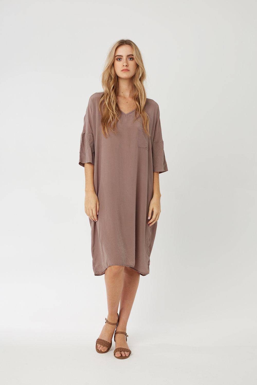 POCKET DRESS DRIFTWOOD