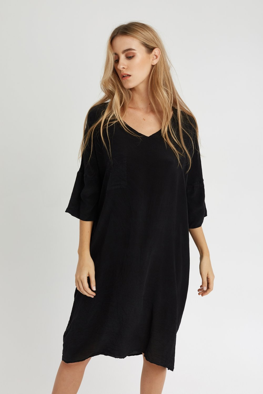 POCKET DRESS NOIR