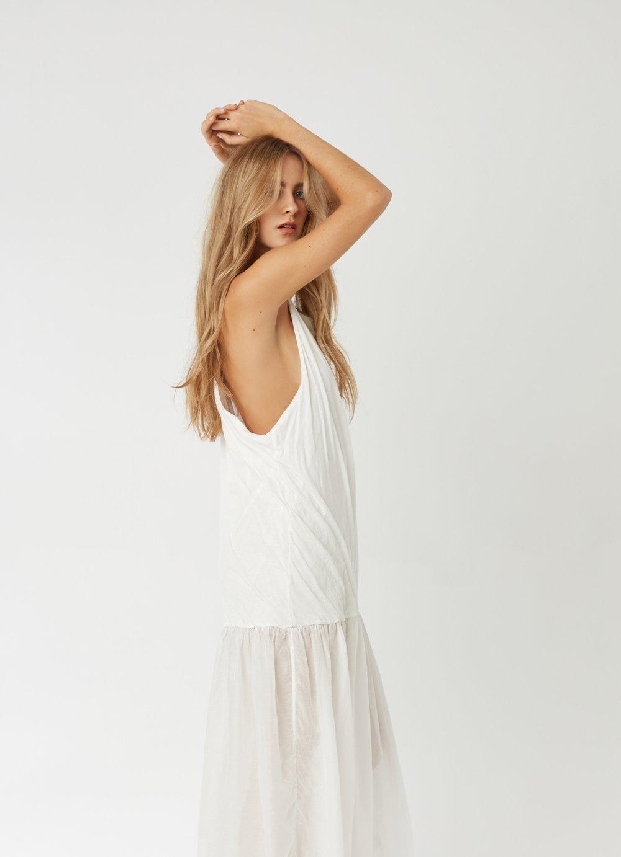 GYPSY DRESS BLANC