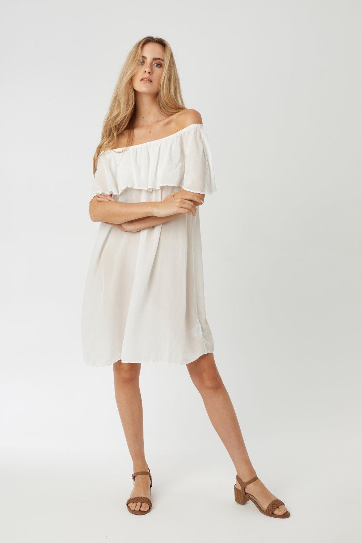 CRUZ DRESS BLANC