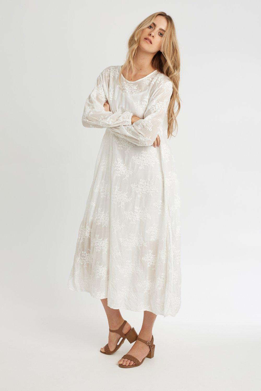 SLIP & LA DRESS BLANC