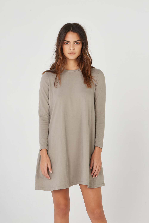 SHIFT DRESS MUSHROOM