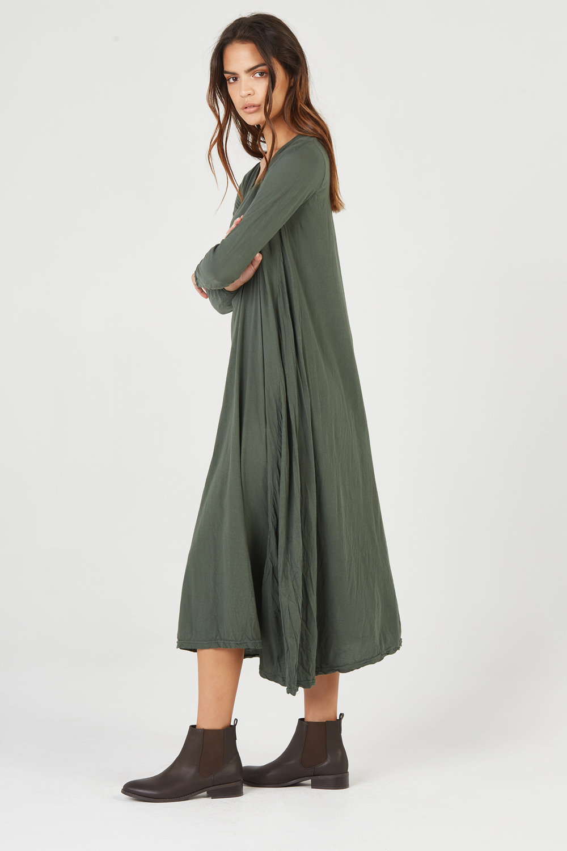 QUOET L/S DRESS JUNIPER