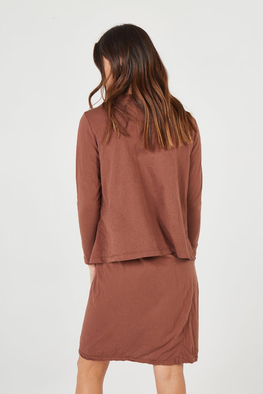 HAP L/S DRESS & SHIFT TOP AMBER