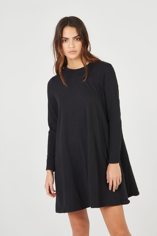 SHIFT DRESS NOIR