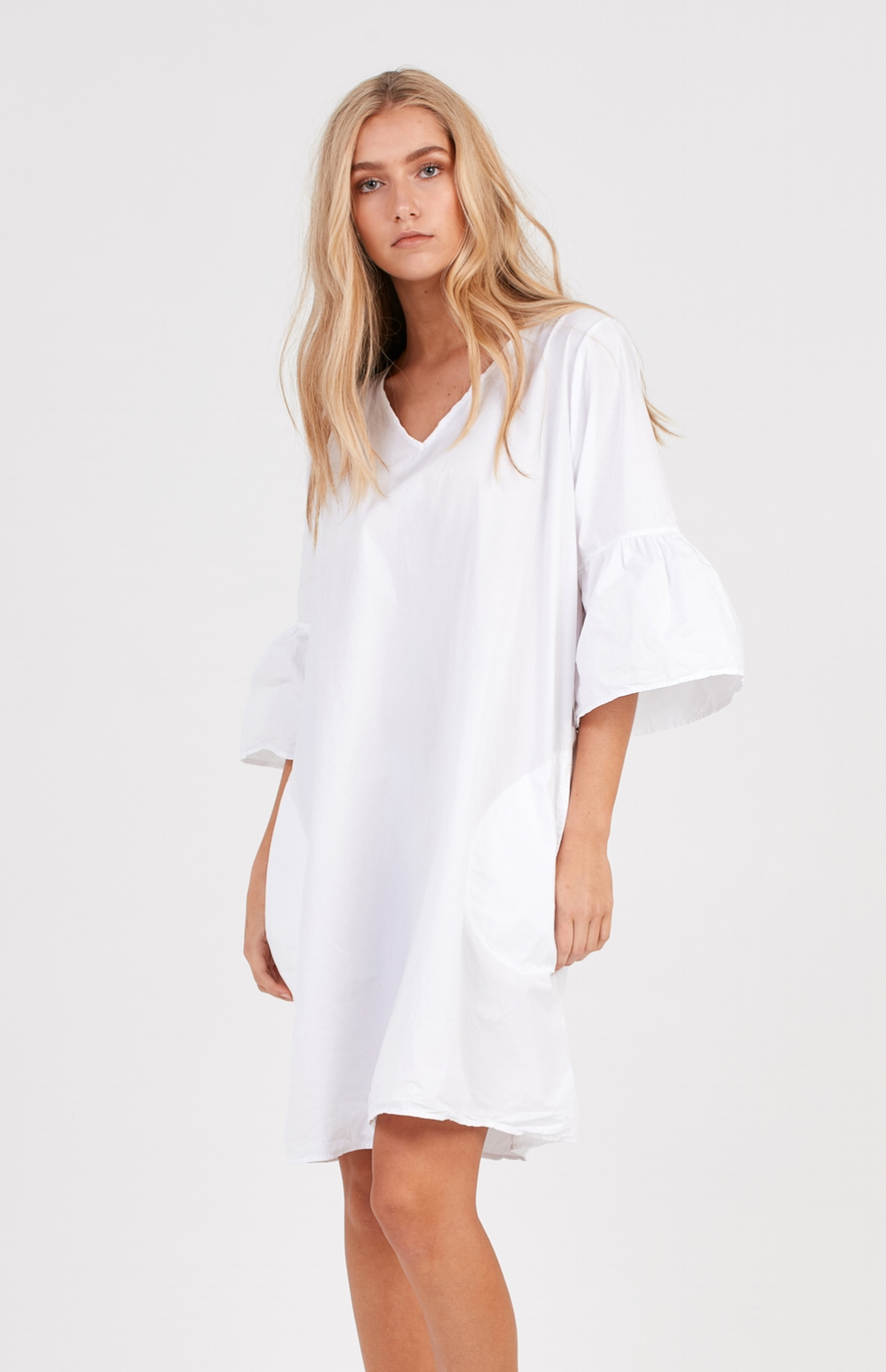 COCOON DRESS BLANC