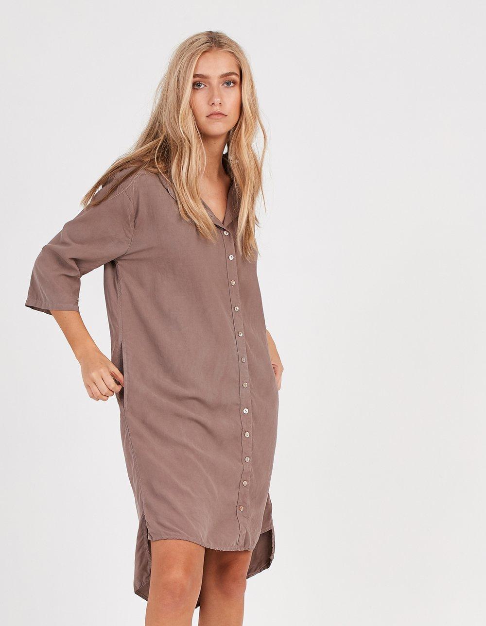 KUL DRESS EXPRESSO BROWN