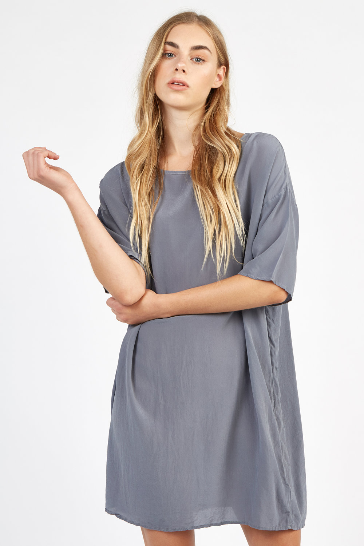 BENIC DRESS FOSSIL GREY