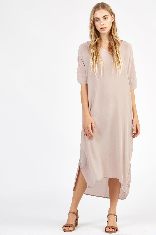 WILLA DRESS TAUPE