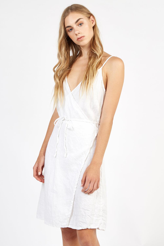 WRAPETTE DRESS BLANC