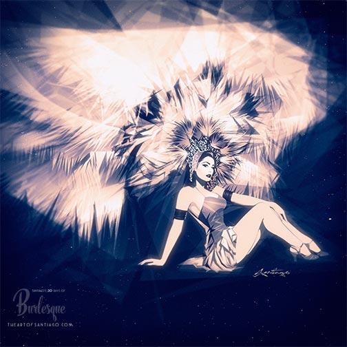 Burlesque Art Stardust Showgirl