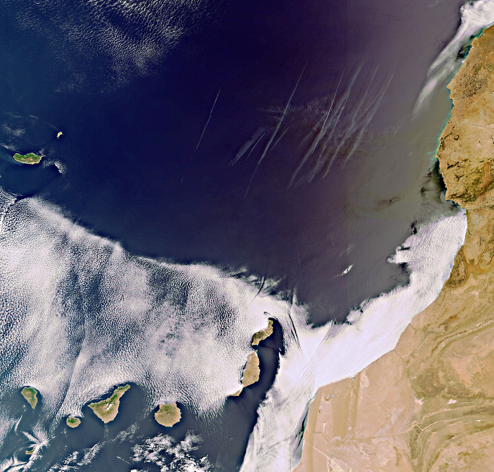 Volcanic Canaries-Image Copyright European Space Agency (ESA)