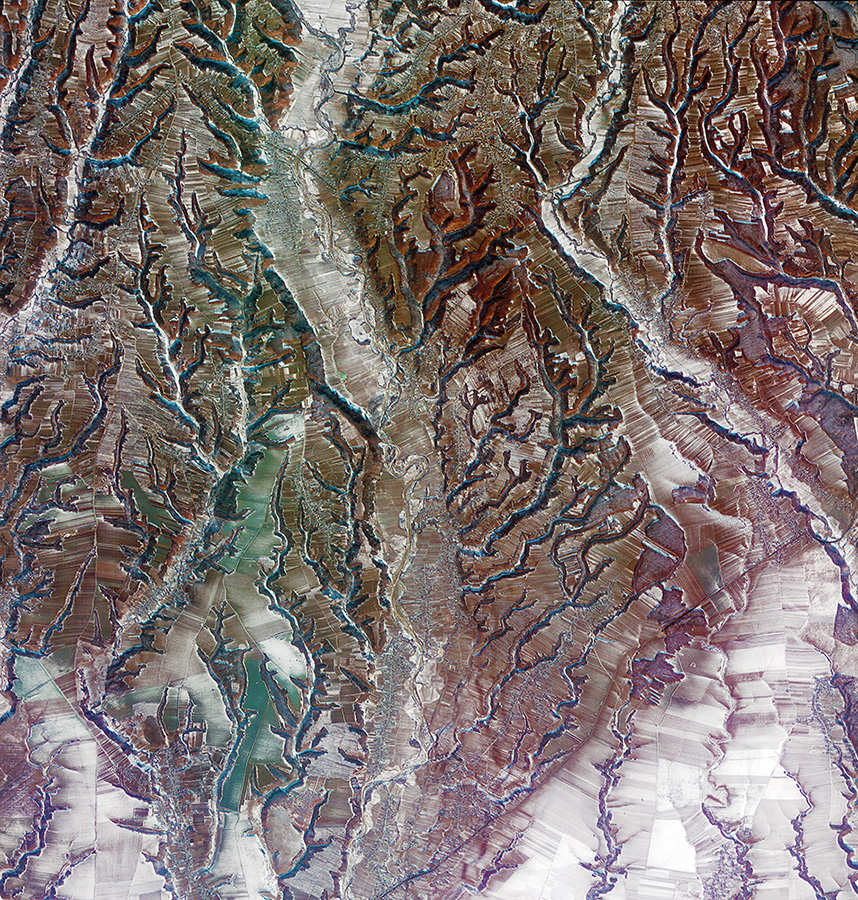 Southern central Romania-Image Copyright KARI/ESA