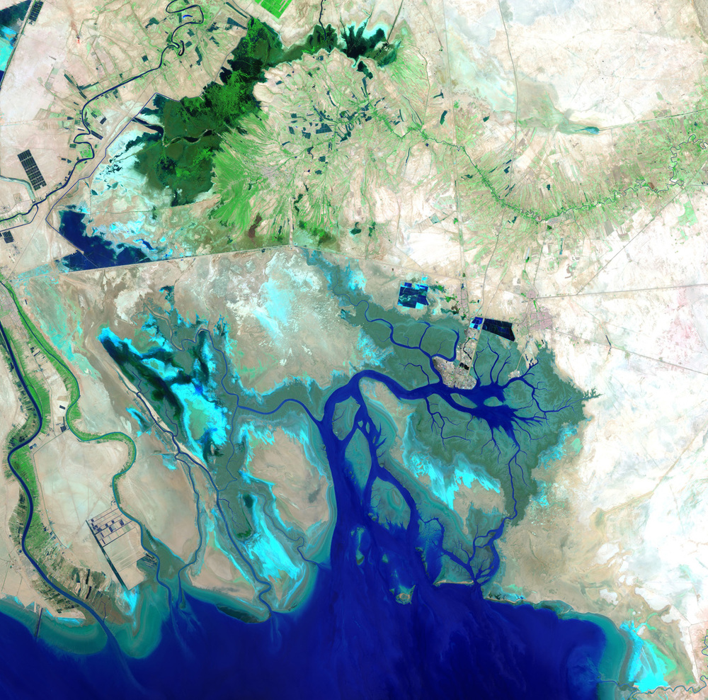 Persian Coast-Image Copyright USGS/ESA