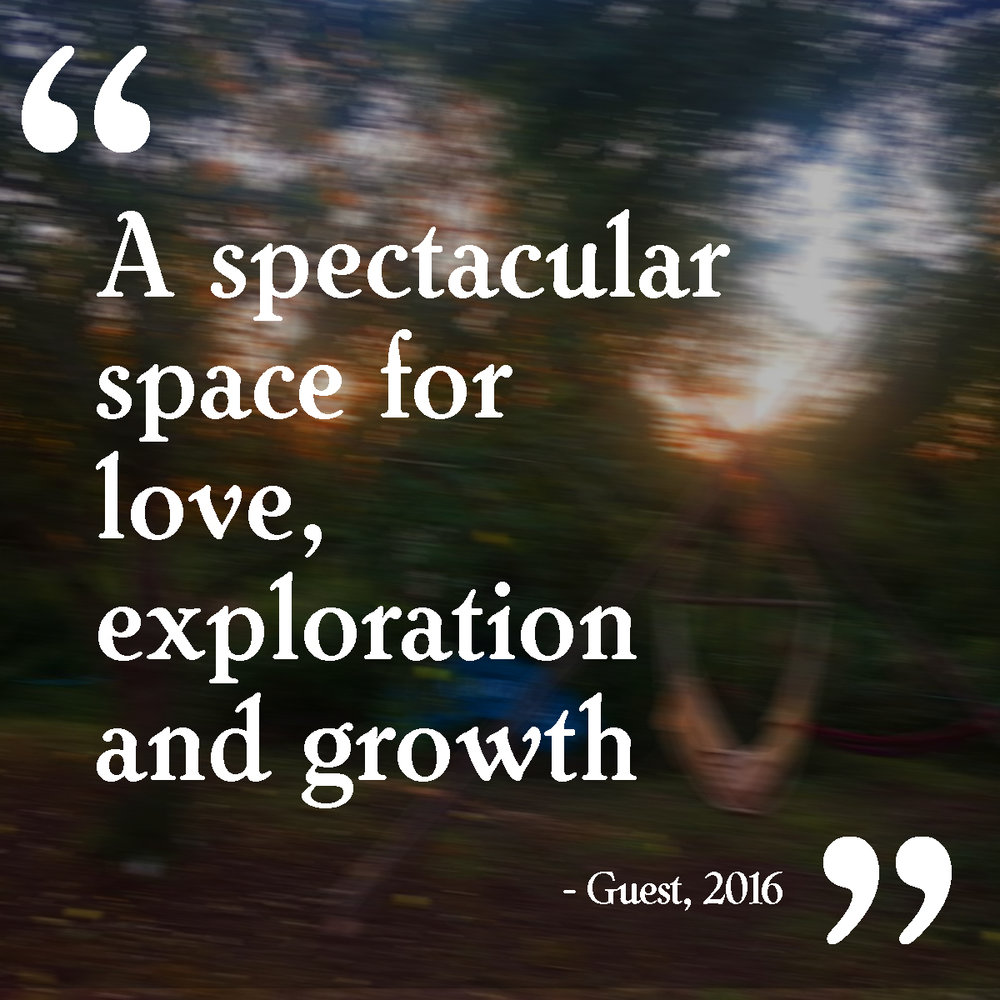 """A spectacular space for love, exploration and growth"""