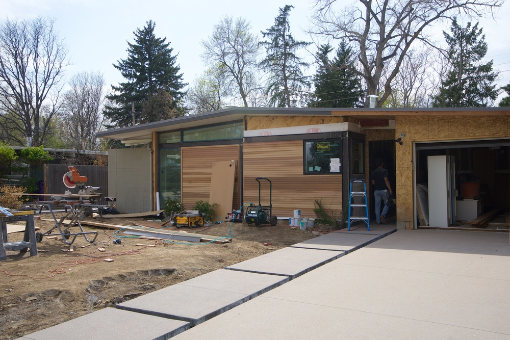 Exterior cedar siding progress