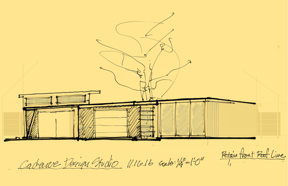 S Cherry - Front Elevation - Retain Roof Line Option Sketch.png