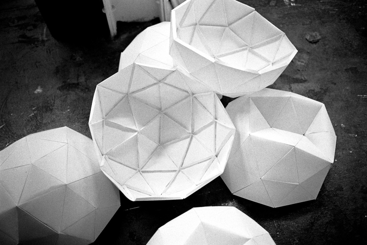 """There is no such thing as an empty space or an empty time.  There is always something to see, something to hear.  In fact, try as we may to make silence, we cannot""      John Cage  on silence   I'm trying to accept the noise/sound/distractions and make my response ability better.   Photo: Geometric Dome Prototypes, constructed by Maggie Macaulay"